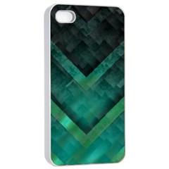 Green Background Wallpaper Motif Design Apple Iphone 4/4s Seamless Case (white)
