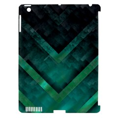 Green Background Wallpaper Motif Design Apple Ipad 3/4 Hardshell Case (compatible With Smart Cover)