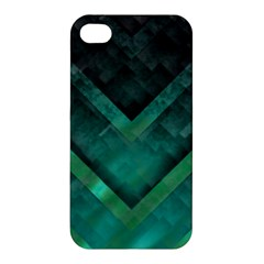 Green Background Wallpaper Motif Design Apple Iphone 4/4s Premium Hardshell Case