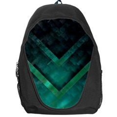 Green Background Wallpaper Motif Design Backpack Bag