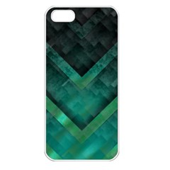 Green Background Wallpaper Motif Design Apple Iphone 5 Seamless Case (white)