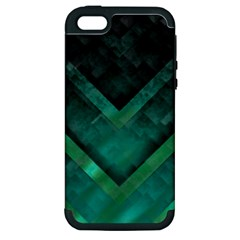 Green Background Wallpaper Motif Design Apple Iphone 5 Hardshell Case (pc+silicone)
