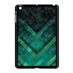Green Background Wallpaper Motif Design Apple iPad Mini Case (Black)