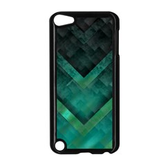 Green Background Wallpaper Motif Design Apple Ipod Touch 5 Case (black)