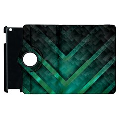 Green Background Wallpaper Motif Design Apple Ipad 2 Flip 360 Case