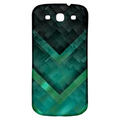 Green Background Wallpaper Motif Design Samsung Galaxy S3 S Iii Classic Hardshell Back Case
