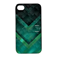 Green Background Wallpaper Motif Design Apple Iphone 4/4s Hardshell Case With Stand