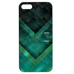 Green Background Wallpaper Motif Design Apple Iphone 5 Hardshell Case With Stand