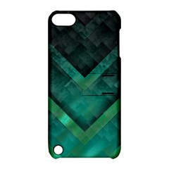 Green Background Wallpaper Motif Design Apple Ipod Touch 5 Hardshell Case With Stand