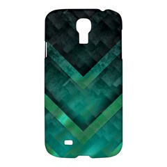 Green Background Wallpaper Motif Design Samsung Galaxy S4 I9500/i9505 Hardshell Case