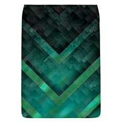 Green Background Wallpaper Motif Design Flap Covers (s)
