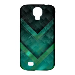 Green Background Wallpaper Motif Design Samsung Galaxy S4 Classic Hardshell Case (pc+silicone)