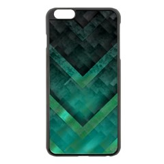 Green Background Wallpaper Motif Design Apple Iphone 6 Plus/6s Plus Black Enamel Case