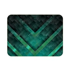 Green Background Wallpaper Motif Design Double Sided Flano Blanket (mini)