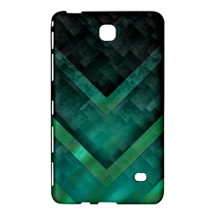 Green Background Wallpaper Motif Design Samsung Galaxy Tab 4 (7 ) Hardshell Case