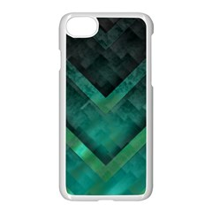 Green Background Wallpaper Motif Design Apple Iphone 7 Seamless Case (white)