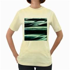 Texture Fractal Frax Hd Mathematics Women s Yellow T Shirt