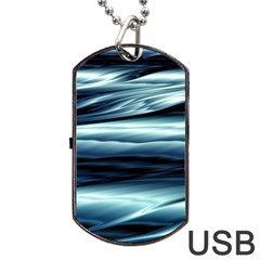 Texture Fractal Frax Hd Mathematics Dog Tag Usb Flash (one Side)