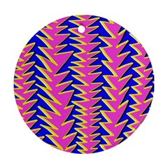 Triangle Pink Blue Ornament (round)
