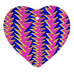Triangle Pink Blue Ornament (heart)