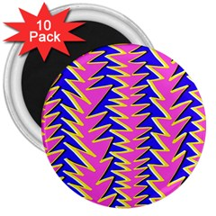 Triangle Pink Blue 3  Magnets (10 pack)