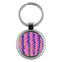 Triangle Pink Blue Key Chains (round)