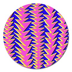 Triangle Pink Blue Magnet 5  (round)
