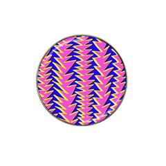 Triangle Pink Blue Hat Clip Ball Marker