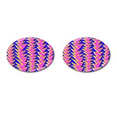 Triangle Pink Blue Cufflinks (oval)