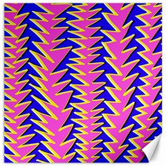 Triangle Pink Blue Canvas 12  X 12