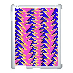 Triangle Pink Blue Apple iPad 3/4 Case (White)