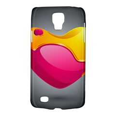 Valentine Heart Having Transparency Effect Pink Yellow Galaxy S4 Active