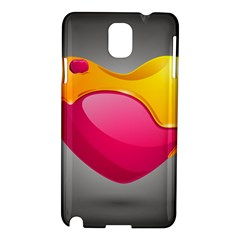 Valentine Heart Having Transparency Effect Pink Yellow Samsung Galaxy Note 3 N9005 Hardshell Case