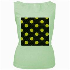 Sunflower Yellow Women s Green Tank Top