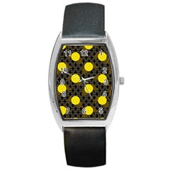 Sunflower Yellow Barrel Style Metal Watch