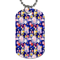 Season Flower Arrangements Purple Dog Tag (one Side)
