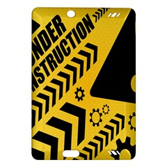 Under Construction Line Maintenen Progres Yellow Sign Amazon Kindle Fire HD (2013) Hardshell Case