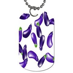 Vegetables Eggplant Purple Dog Tag (one Side)