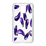 Vegetables Eggplant Purple Samsung Galaxy S5 Case (White) Front