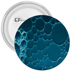 Water Bubble Blue 3  Buttons