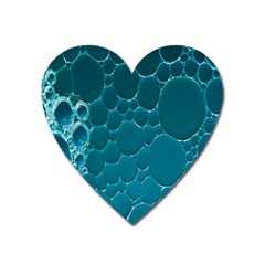 Water Bubble Blue Heart Magnet