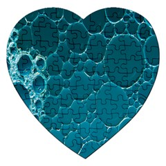 Water Bubble Blue Jigsaw Puzzle (heart)