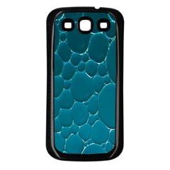 Water Bubble Blue Samsung Galaxy S3 Back Case (Black)