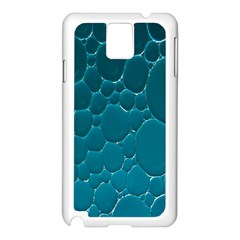 Water Bubble Blue Samsung Galaxy Note 3 N9005 Case (White)