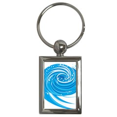 Water Round Blue Key Chains (Rectangle)