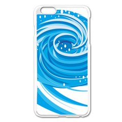 Water Round Blue Apple iPhone 6 Plus/6S Plus Enamel White Case