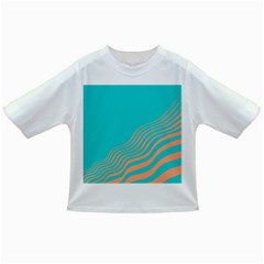 Water Waves Blue Orange Infant/toddler T Shirts
