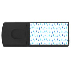 Water Rain Blue Usb Flash Drive Rectangular (4 Gb)