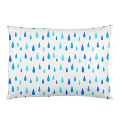 Water Rain Blue Pillow Case