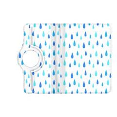Water Rain Blue Kindle Fire HD (2013) Flip 360 Case
